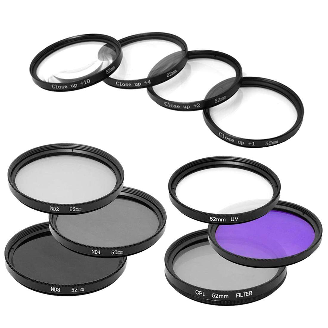 1 set 52mm Close up + UV CPL FLD +ND2 ND4 ND8 Filter for Nikon D7100 D7000 D5200 D5100 D3200 D3100 D3000 D90 D4 D3X D800