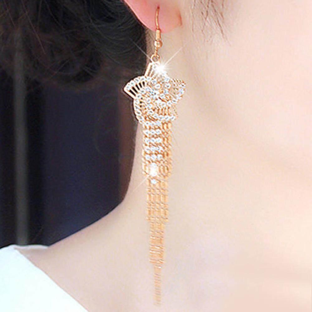 956107d37 Fashion Earrings Women Ladies Long Tassel Dangle Earrings Party Wedding  Earrings
