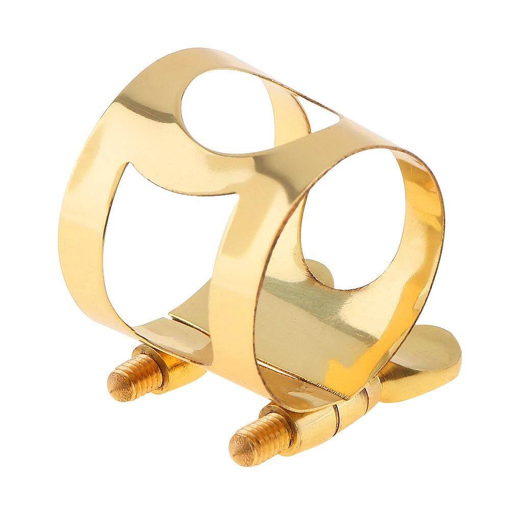 Alto Saxophone Mouthpiece Ligature Gold-plated Brass Ligature Fastener for Rubber Alto Saxophone