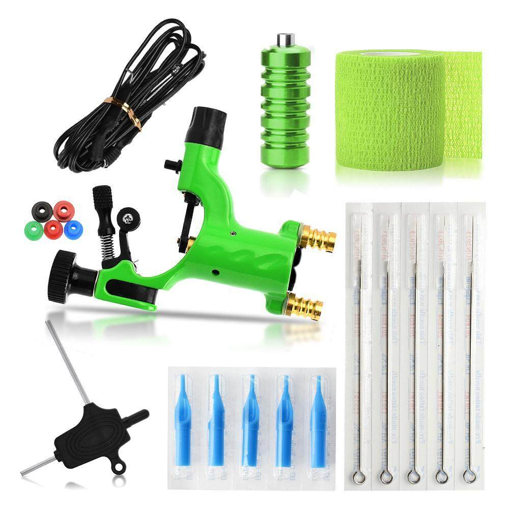 ZLOYI Fashion Tattoo Exquisite Workmanship Tattoo Kit Equipment Tattoo Machine 5 Needles Tattoo Tool Set - intl