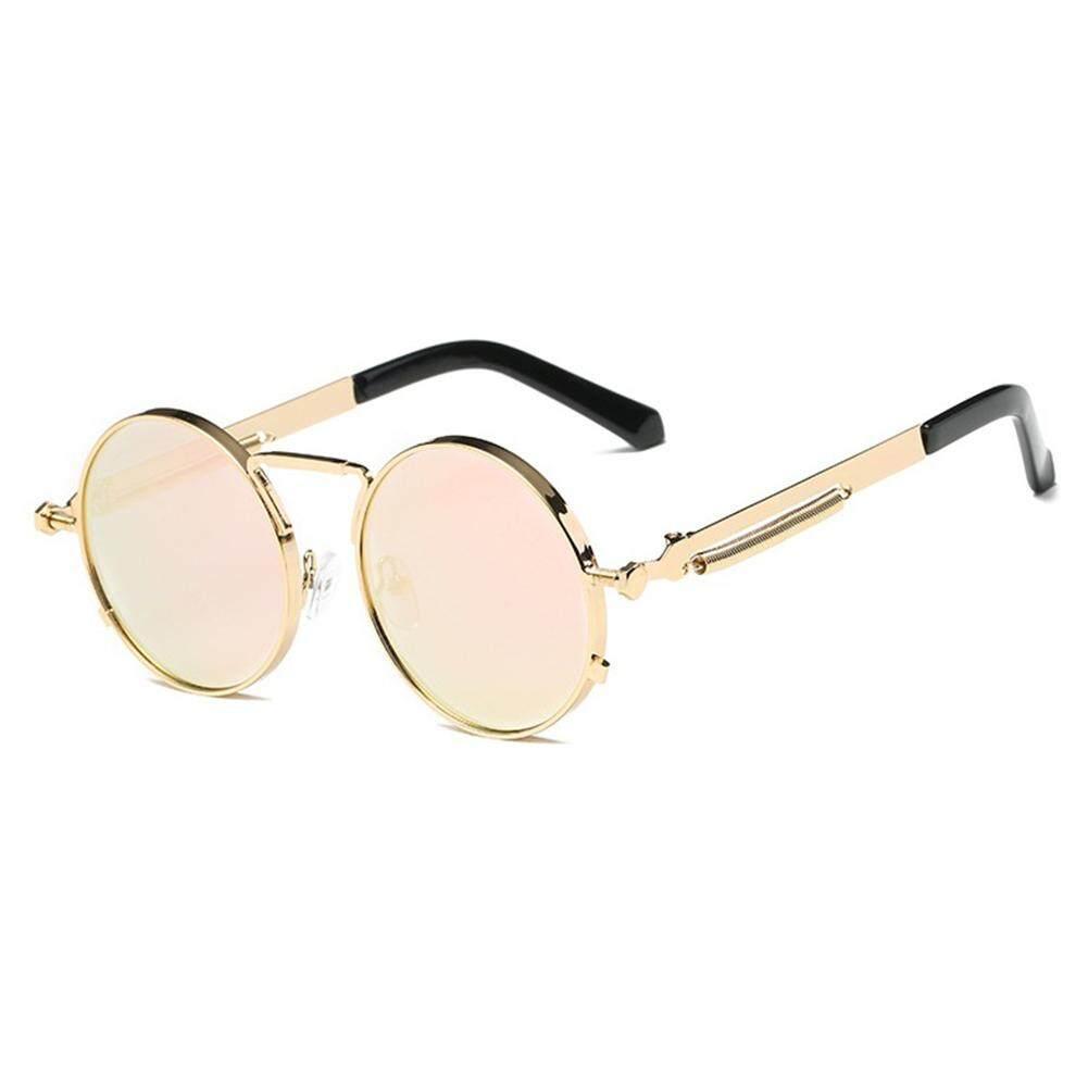 Qimiao Vintage Warna Film Steampunk Kacamata Fashion Bulat Cermin Retro Model Kaca Mata: 5-