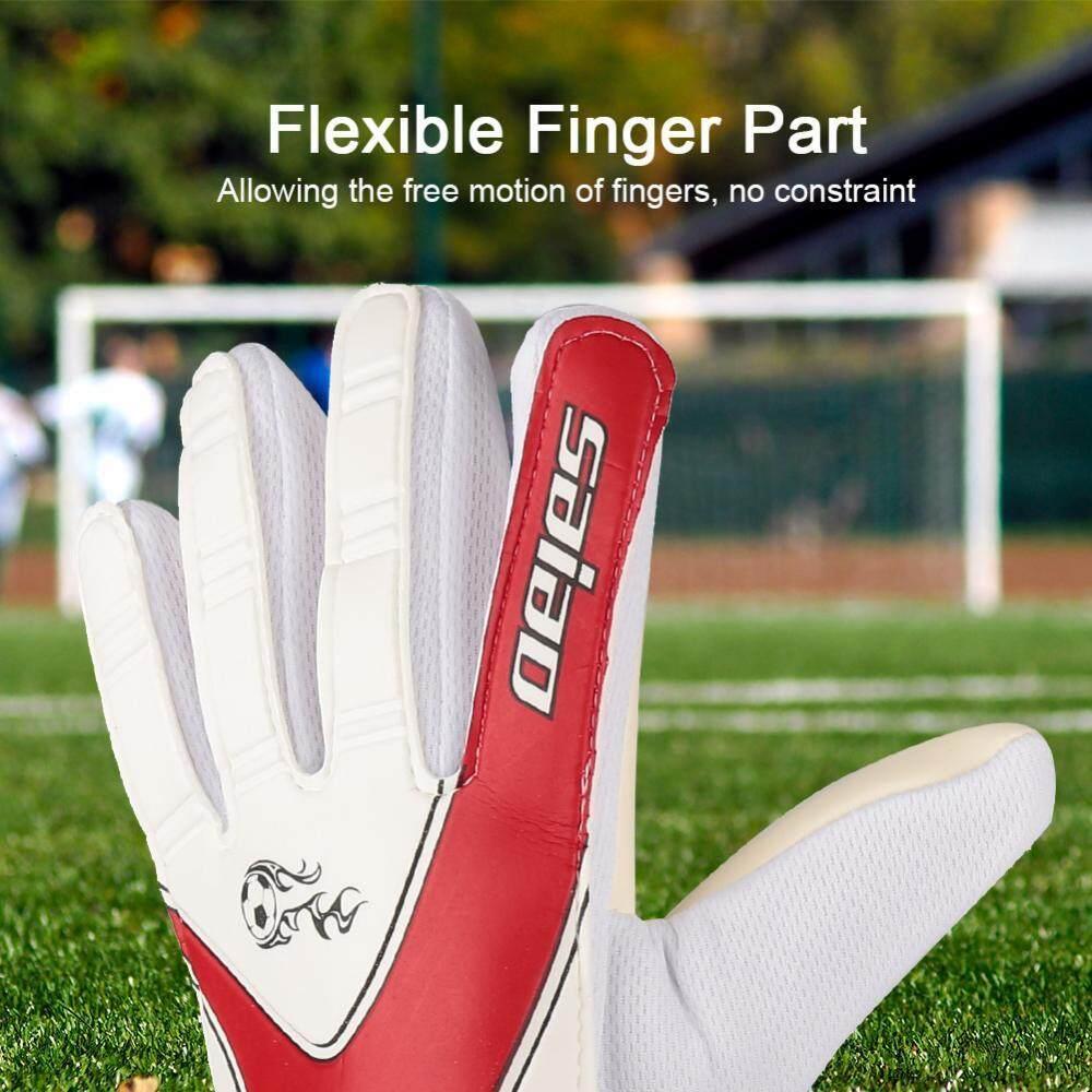 1 Pair Wear-resistant Soccer Football Goalkeeper Teenager Full Finger Gloves - intl