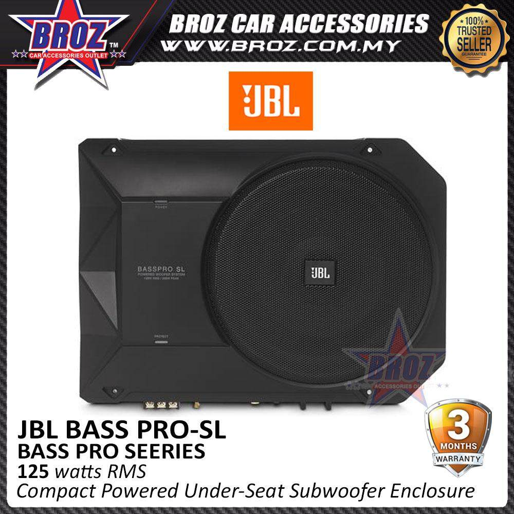 "Broz JBL BassPro SL 8"" Compact Powered Under-Seat Subwoofer Enclosure"