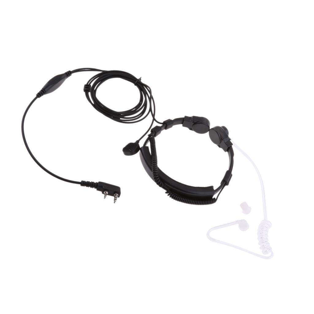 Miracle Shining Earpiece Mic Finger PTT Headset/Headphone for Kenwood Baofeng 2 Way Radio