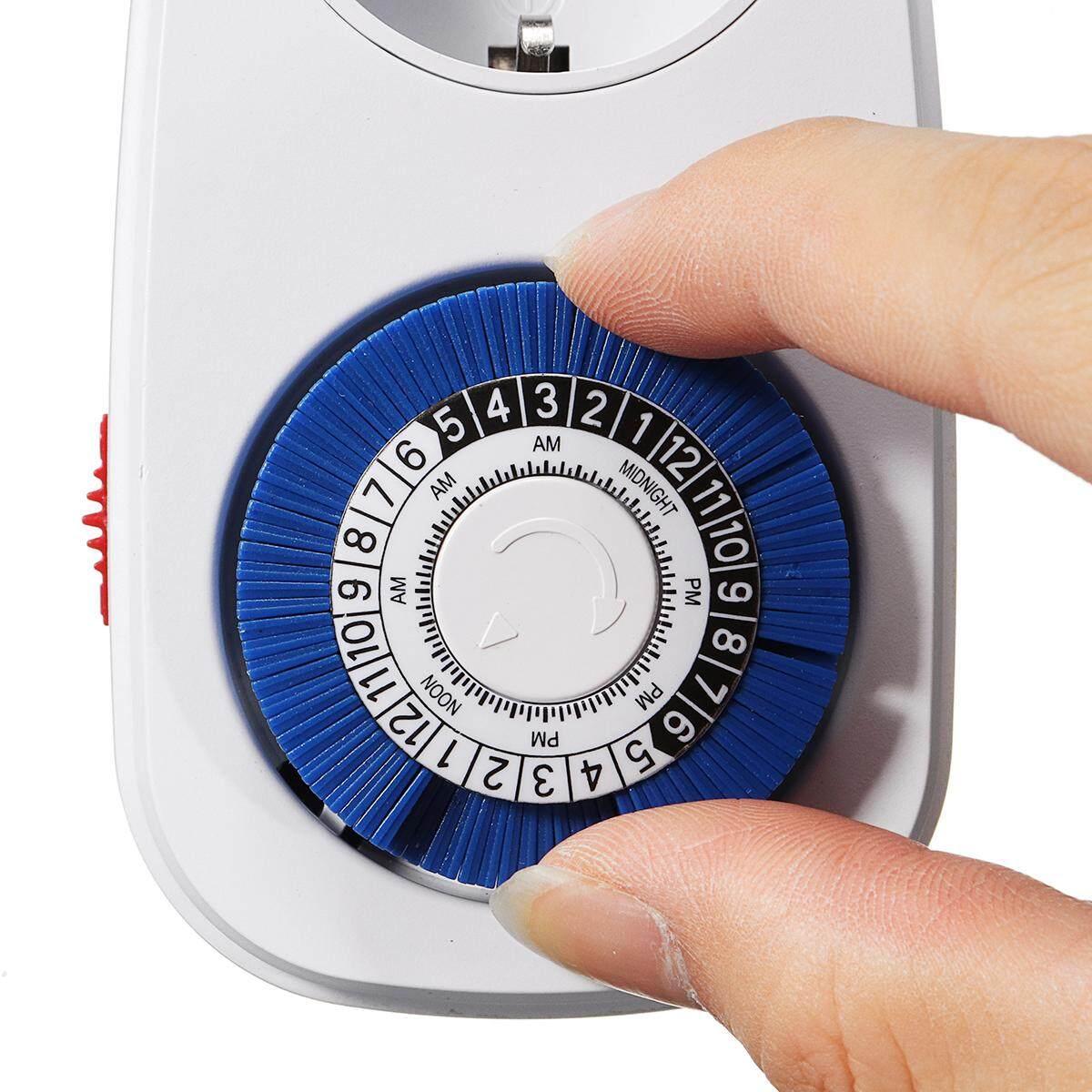 Review Mini Indoor 24 Jam Mekanis Outlet Timer Smart Listrik
