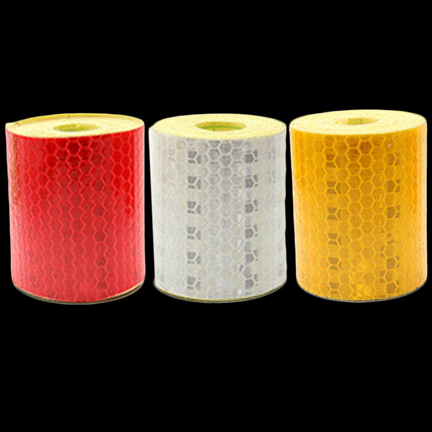 3 Roll 5 X 300cm Reflective Reflector Safety Warning Conspicuity Tape Strip Sticker For Truck Motorcycle Car Tricycles Red + Silver + Yellow - Intl By Stoneky.