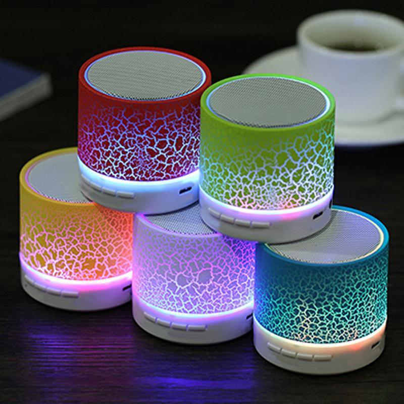 New glare crack Bluetooth speaker mini portable LED subwoofer U disk card speaker