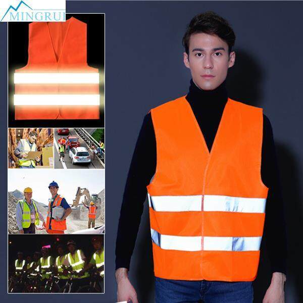 Mingrui Store Breathable Strips Reflective Clothes Safety Vest Durable Premium