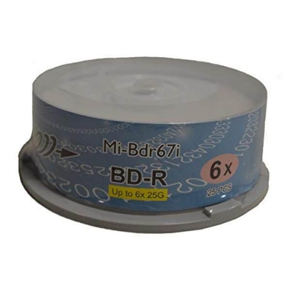 Copystars Blu-ray Media Blank BD-R Disc 25 GB 6X White Inkjet Printable Single Layer Recordable Disc Spindle 25pcs - intl