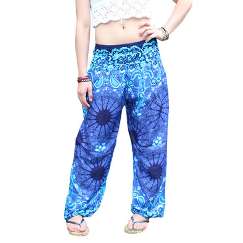 Erpstore Men Women Thai Harem Trousers Boho Festival Hippy Smock High Waist Yoga Pants By Erpstore.