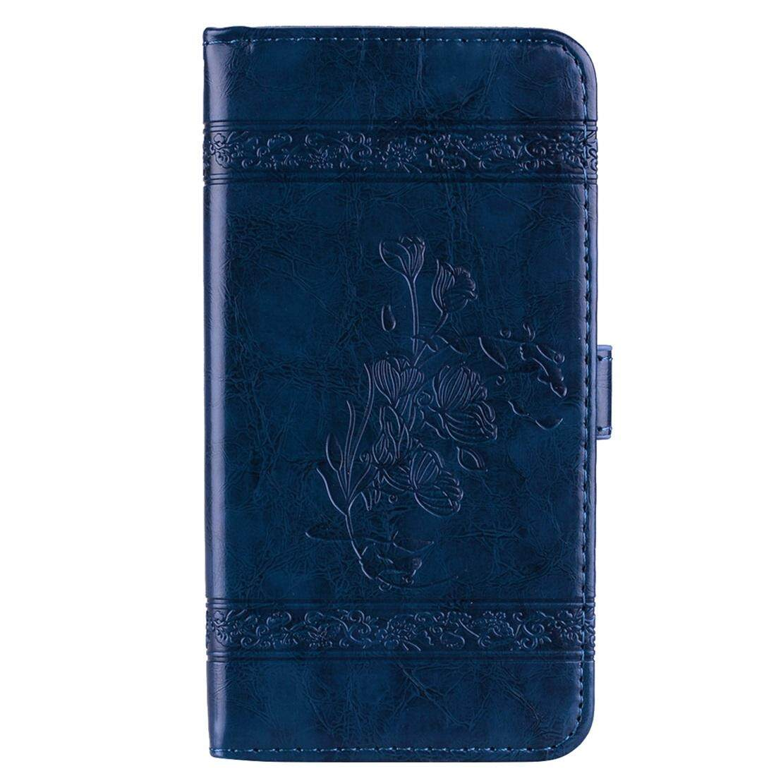 For Xiaomi Redmi 5 Plus Vintage Oil Wax Texture Embossed Horizontal Flip Leather Case with Holder