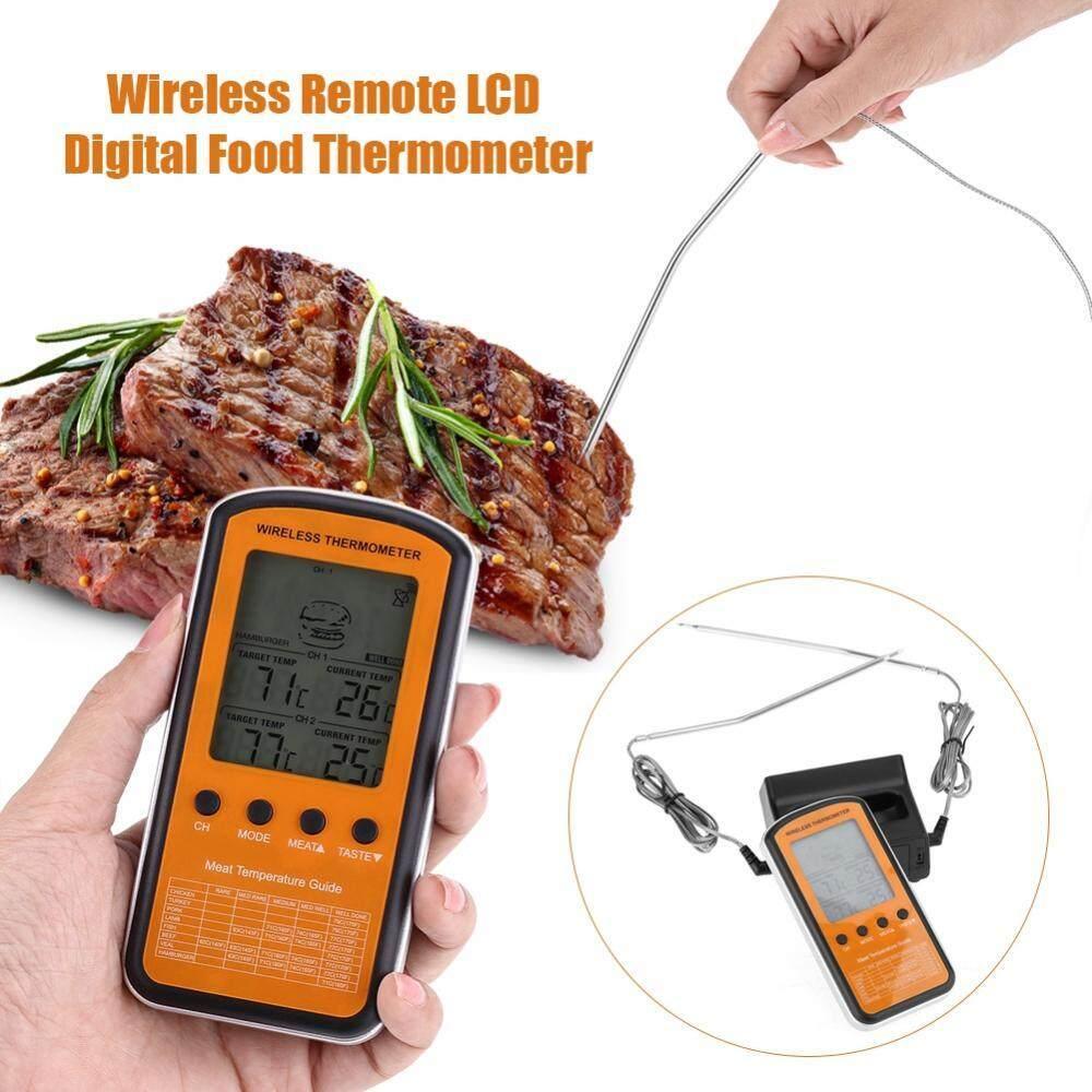 Buy Sell Cheapest Digital Termometer Bbq Best Quality Product Makanan Food Cooking Thermometer Alat Ukur Suhu Masakan Minuman Air Obat Kopi Susu Nirkabel Remote Lcd Dengan Dual Probe Untuk Oven Dapur Memasak Intl