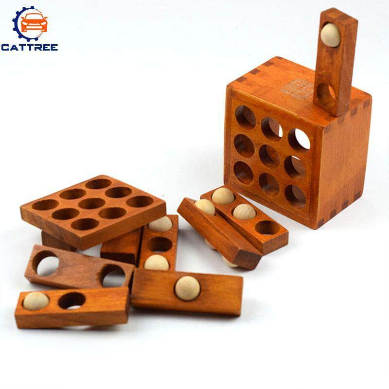Hình ảnh Catree Unlock Puzzle Toy Pocket Wooden Lubricious Educational Stress Reduction