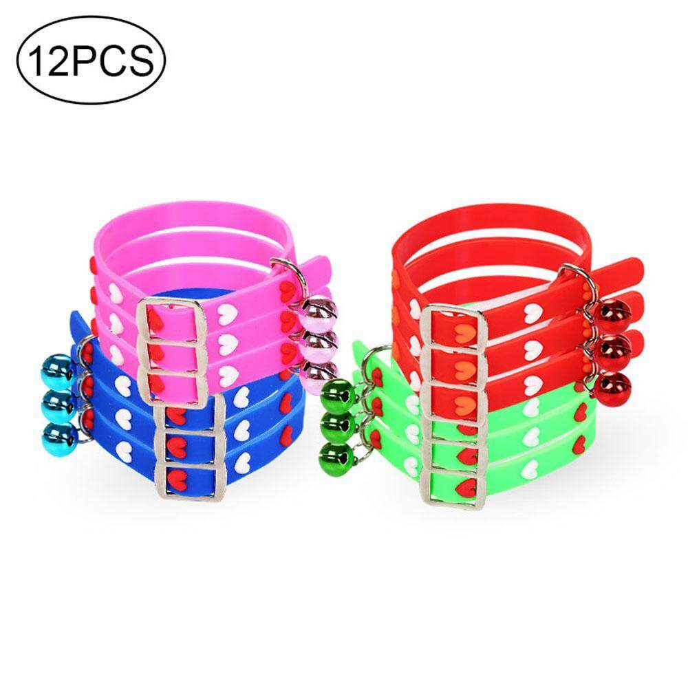 Leegoal 12 Pcs/set Puppy Id Collars, Adjustable & Environment-Friendly Silicone Pet Identification Collars By Leegoal.
