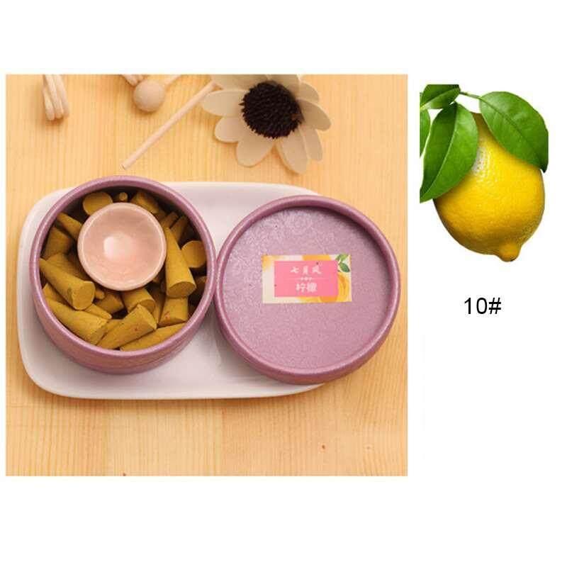 Ycrown Pagoda Alam Dupa Akan Membantu Tidur Stick Aromaterapi Parfum Cendana Set (LEMON)-