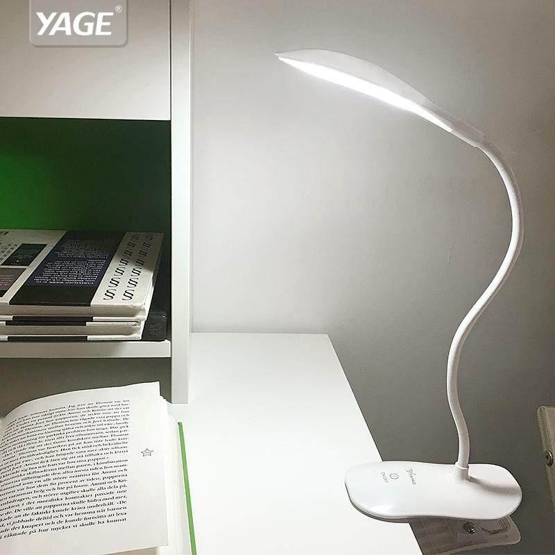 BSLAMP Desk Lamp Led Reading Desk Light 14 Led Table Lamp Clip Led Touch On/off Light Modern Foldable Fixtures Battery - intl