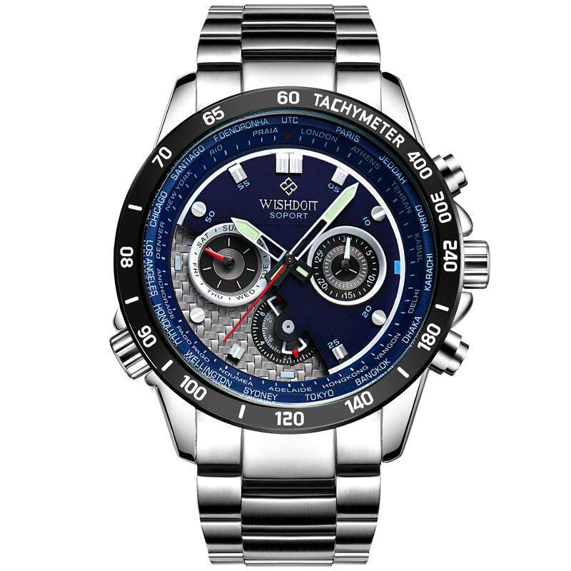 Wishdoit Wsd-012 Fashion Men Quartz Watch Casual Luminous Multi-Function Wrist Watch Style 5 By Glimmer.