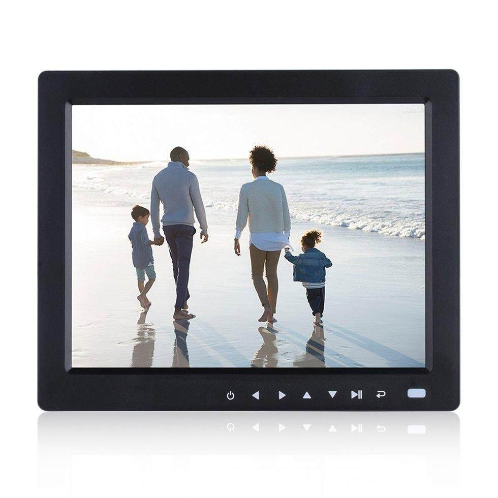 Hadiah 10 Inch HD TFT LCD Digital Gambar Album Foto Frame Music Video Player Hitam EU