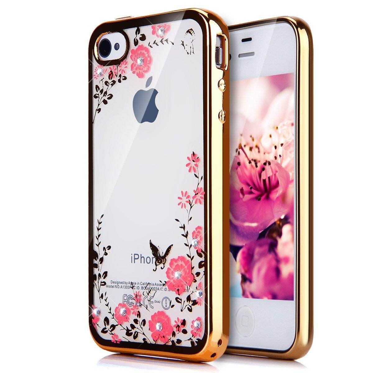 Buy Sell Cheapest No 1 Plating Best Quality Product Deals Peonia Electroplating Transparent Ultrathin Xiaomi Redmi Note 5 Pro Ai For Iphone 4s 4 Clear Soft Butterfly Floral Flower Bling Crystal Rhinestone Case Cover