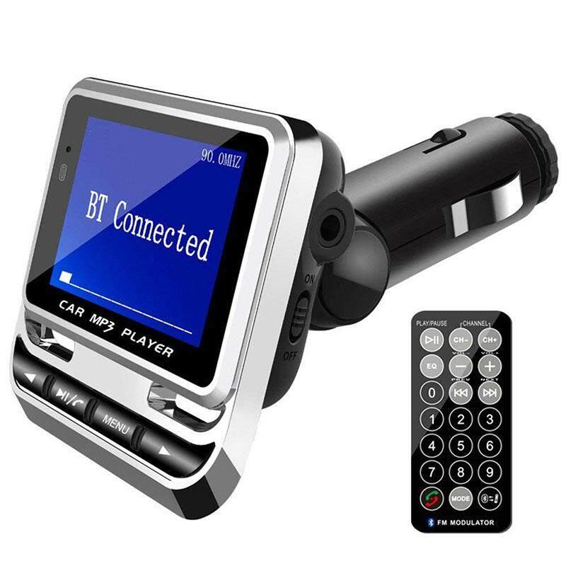 Rumah Besar Bluetooth Mobil MP3 Pemain FM12B Wireless FM Transmitter Layar LCD Mobil Kit dengan Pengisi Daya USB Dukungan TF Kartu & Line-In AUX