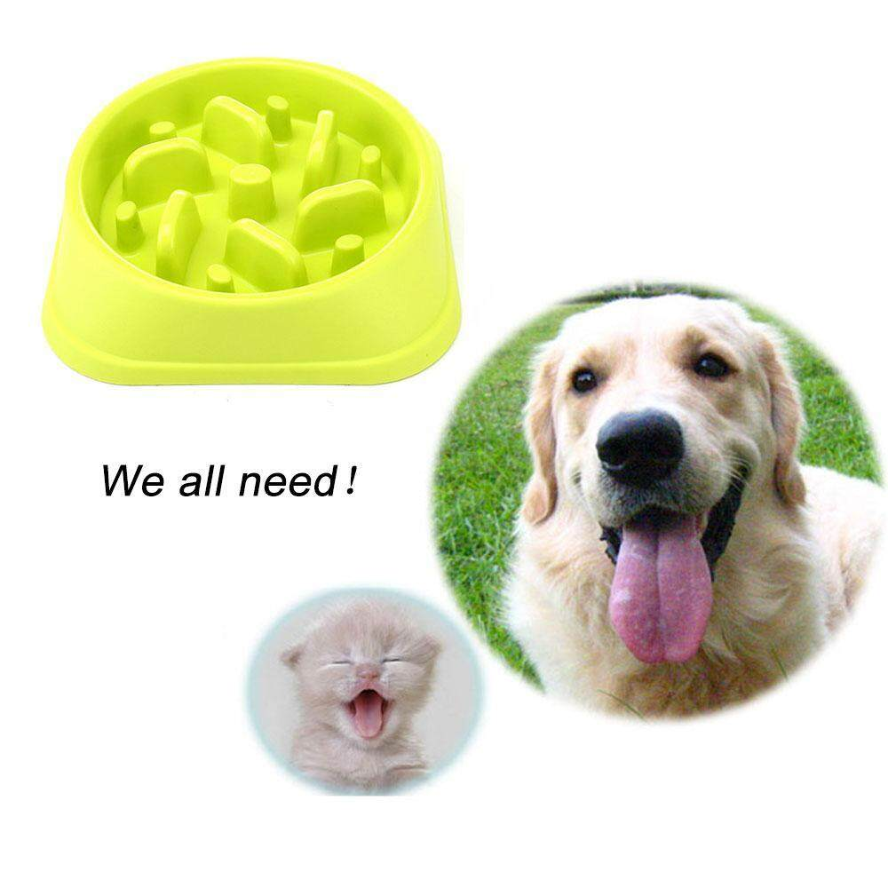 Leegoal Plastic Pet Feeder Anti Choke Dog Bowl Puppy Cat Slow Down Eatting Feeder Healthy Diet Dish Jungle Design (20*20*4cm) - Intl By Leegoal.