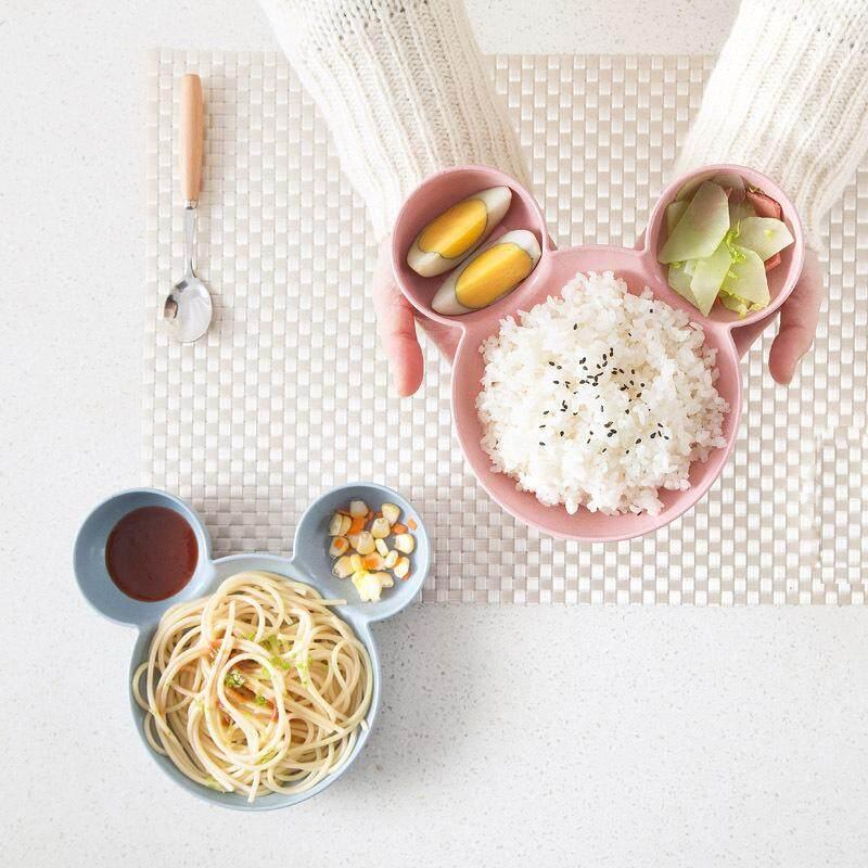 Kartun Lucu Bayi Piring Makan Kotak Bekal Makan Siang Mangkuk untuk Menyuap Bayi Buah Kue Camilan Piring Peralatan Makan untuk Anak - 2