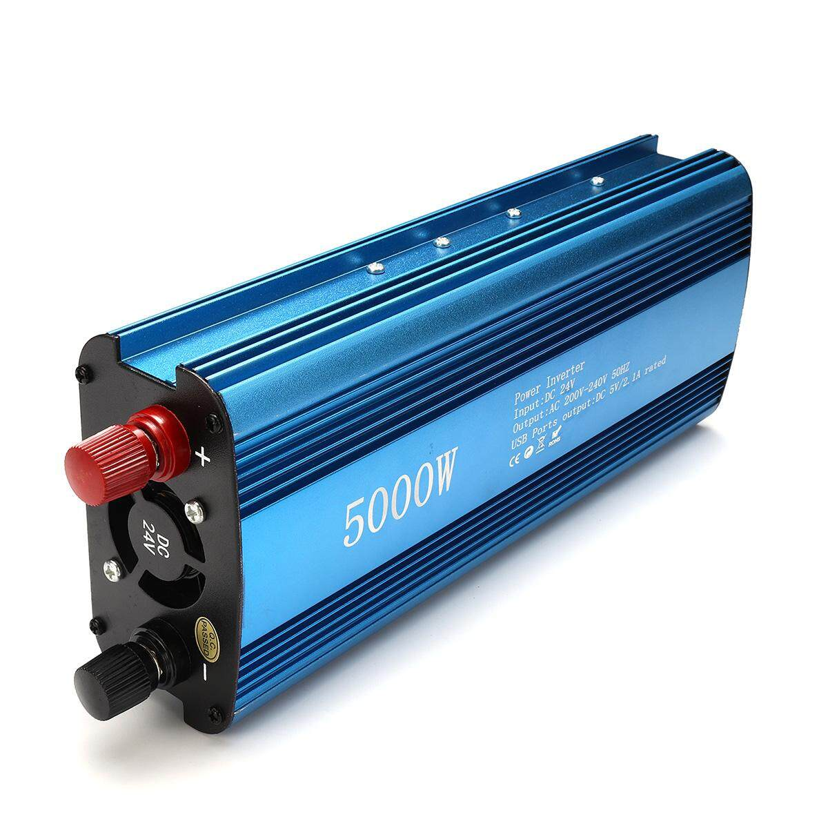 5000W DC 24V to AC 220V Solar Power Inverter LED Display Sine Wave USB Converter - intl