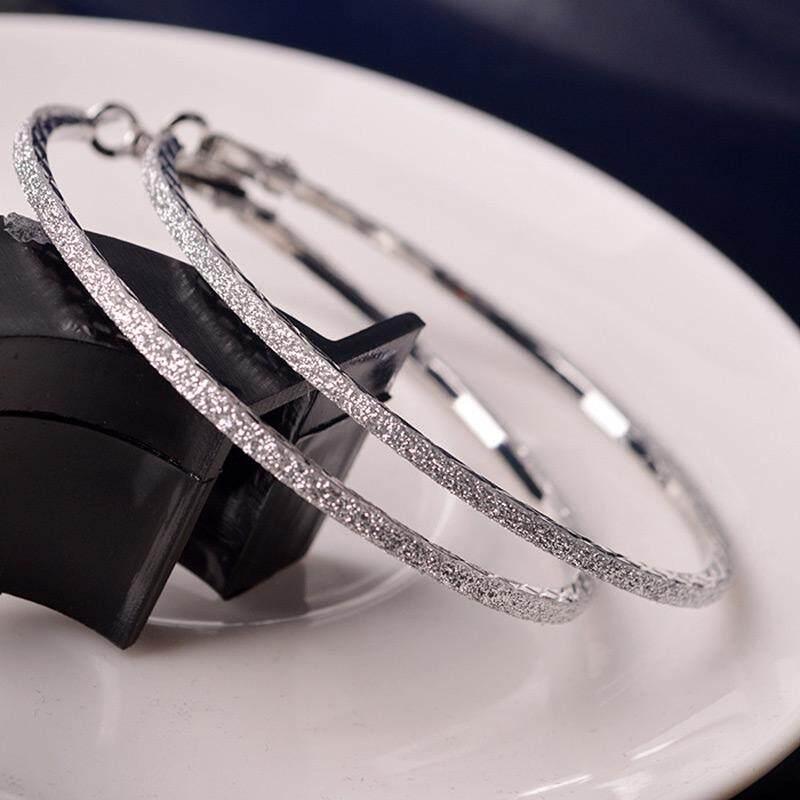 6 Cm Lingkaran Bulat Menjuntai Anting-Anting Perhiasan Wanita Diamante Berlian Imitasi Kristal Telinga Besar Lingkaran-Internasional