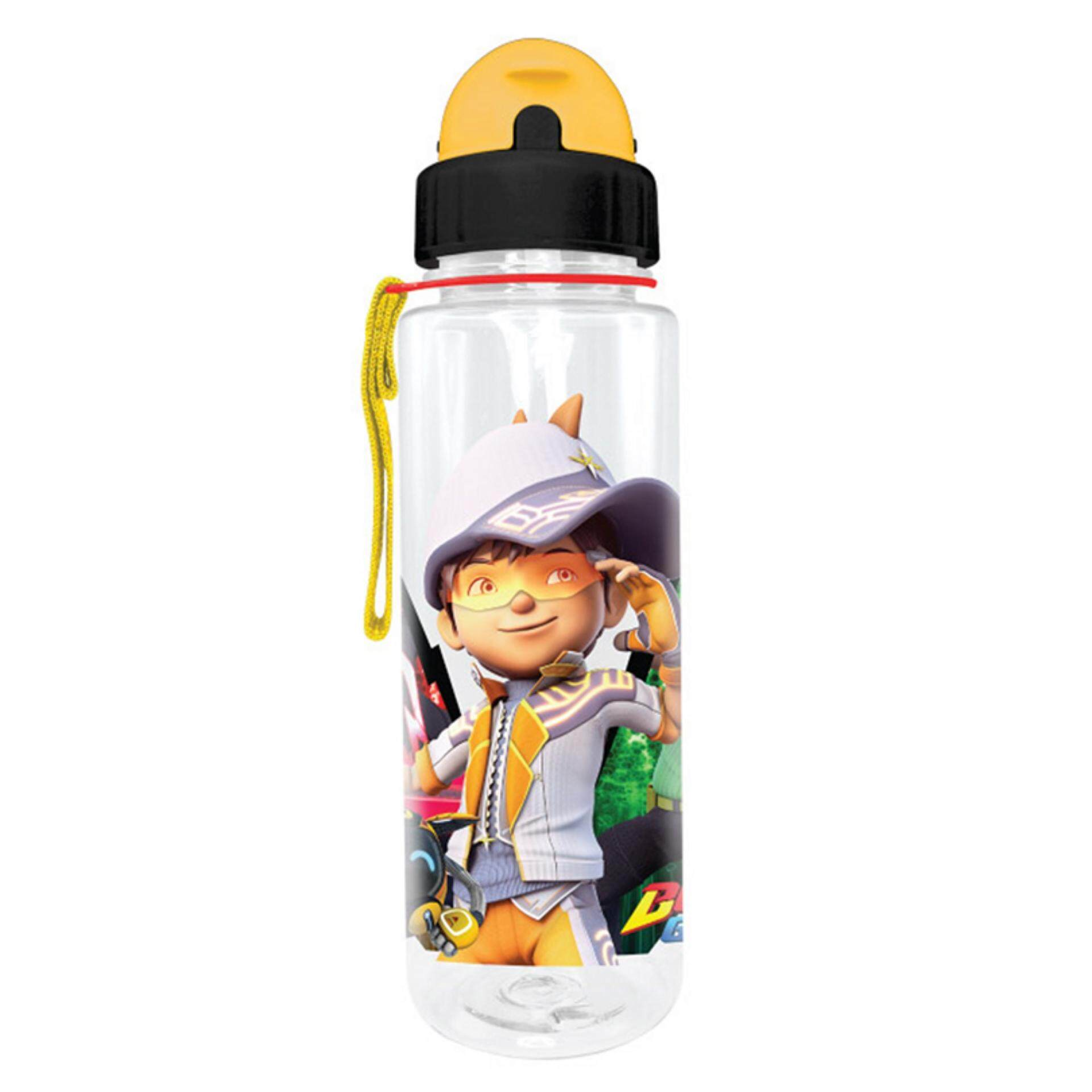 Boboiboy 650ML Tritan Bottle With Straw - Black Colour