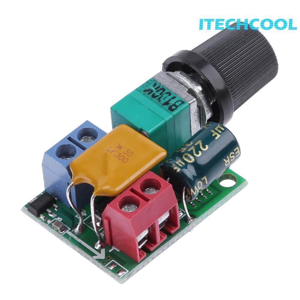 Mini Voltage DC Motor PWM Governor 5A 3V-35V Speed Switch LED Dimmer Module - intl