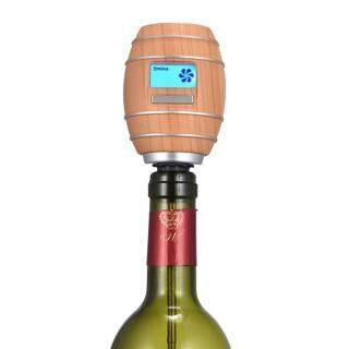 Loskii Máy Bơm Bình Rượu Oxy Thông Minh Máy Sục Khí Bình Rượu Điện Hình Thùng, Với Màn Hình LCD Dụng Cụ Rót Rượu, Dụng Cụ Quầy Bar Nhà Bếp thumbnail
