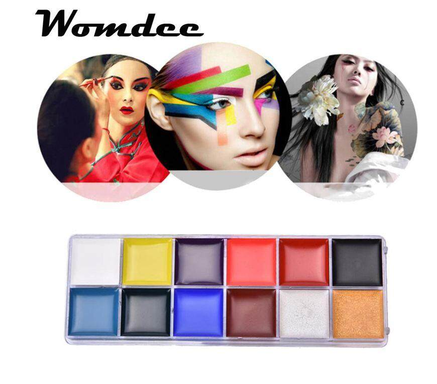 Womdee Face Painting Kits For Kids,12 Colors Non-Toxic Body Face Painting Kits