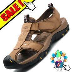 Yealon Kulit Asli Sandal Naik Gunung Sepatu Krasovki Tahan Air Sepatu Musim  Panas Pria Olahraga Melakukan 0dc11c783f