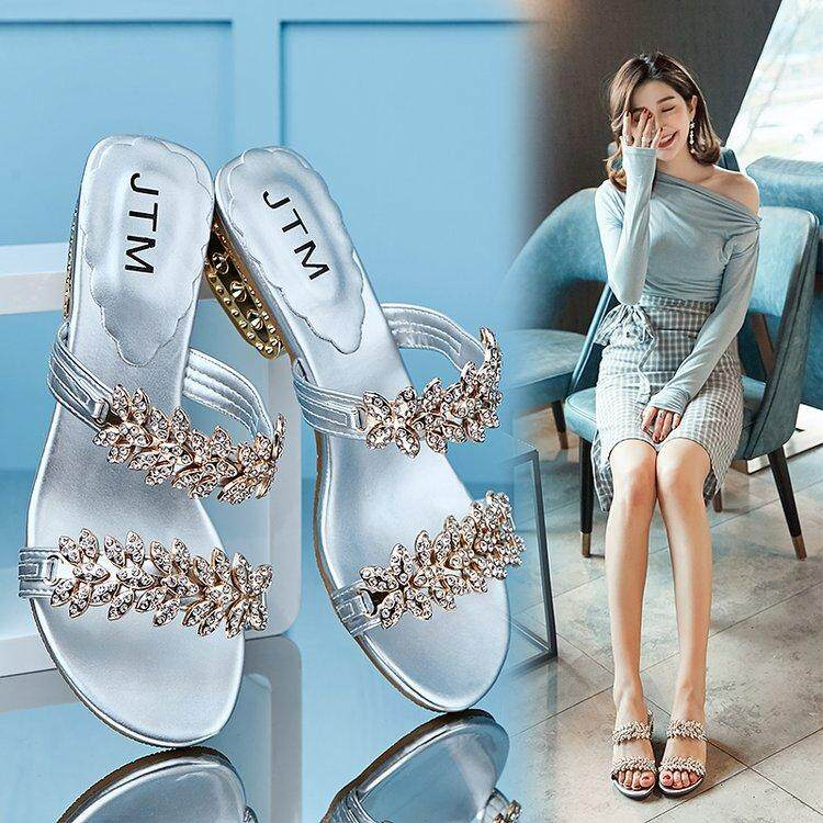 227c0097c2a9a1 3 Color 18 Summer Word With Rhinestone Sandals And Slippers Bohemian  Sandals Female