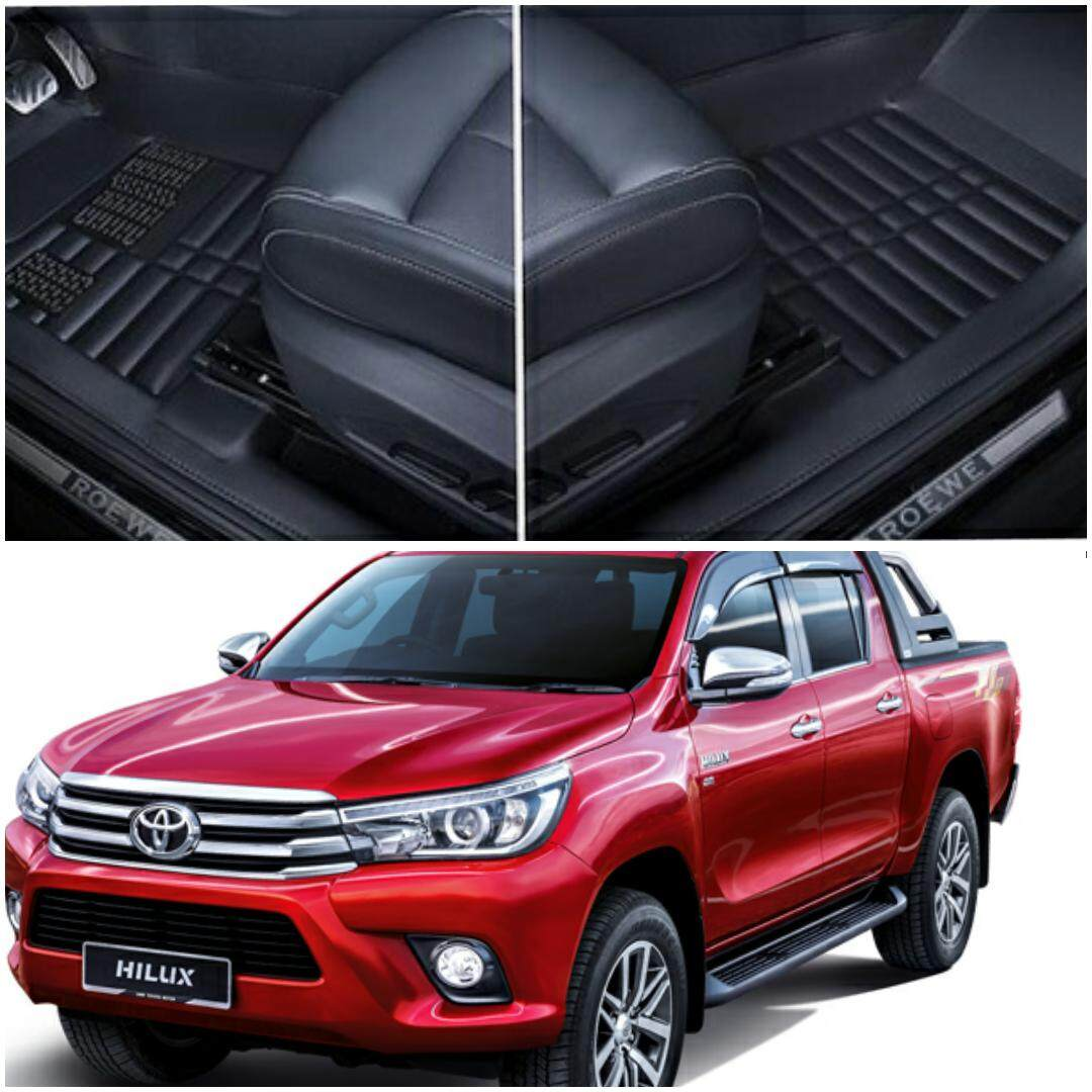 READY STOCK TOYOTA HILUX CAR FLOOR MAT WATERPROOF ( FULL SET LEATHER)
