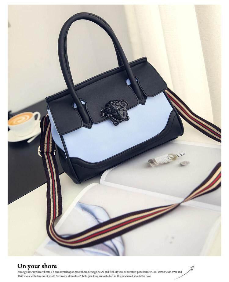 d5c6c83114fe Versace bag/Versace (back) handbag ol commuter bag compared with ribbon  single shoulder messenger bag European and American fashion big brand  women's ...