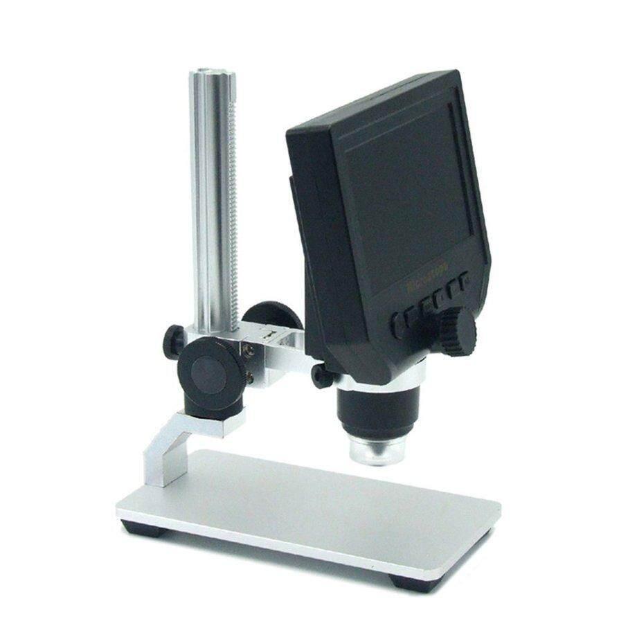 Era 1-600X 4.3-Inch 3.6MP Digital Layar LD Mikroskop Video dengan Dudukan Bahan Logam