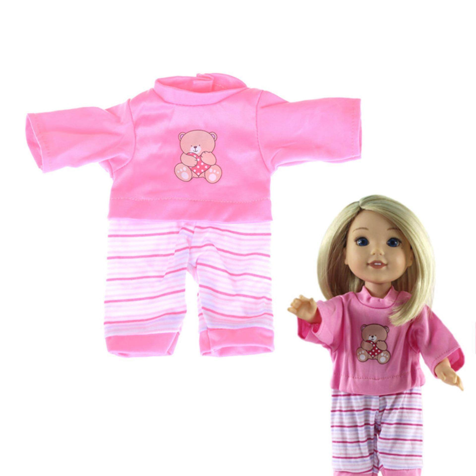 Cute Doll Pink Jumpsuits Clothes For 14 14.5 Inch American Girl Doll  Clothing Gift One 62c4b2546124