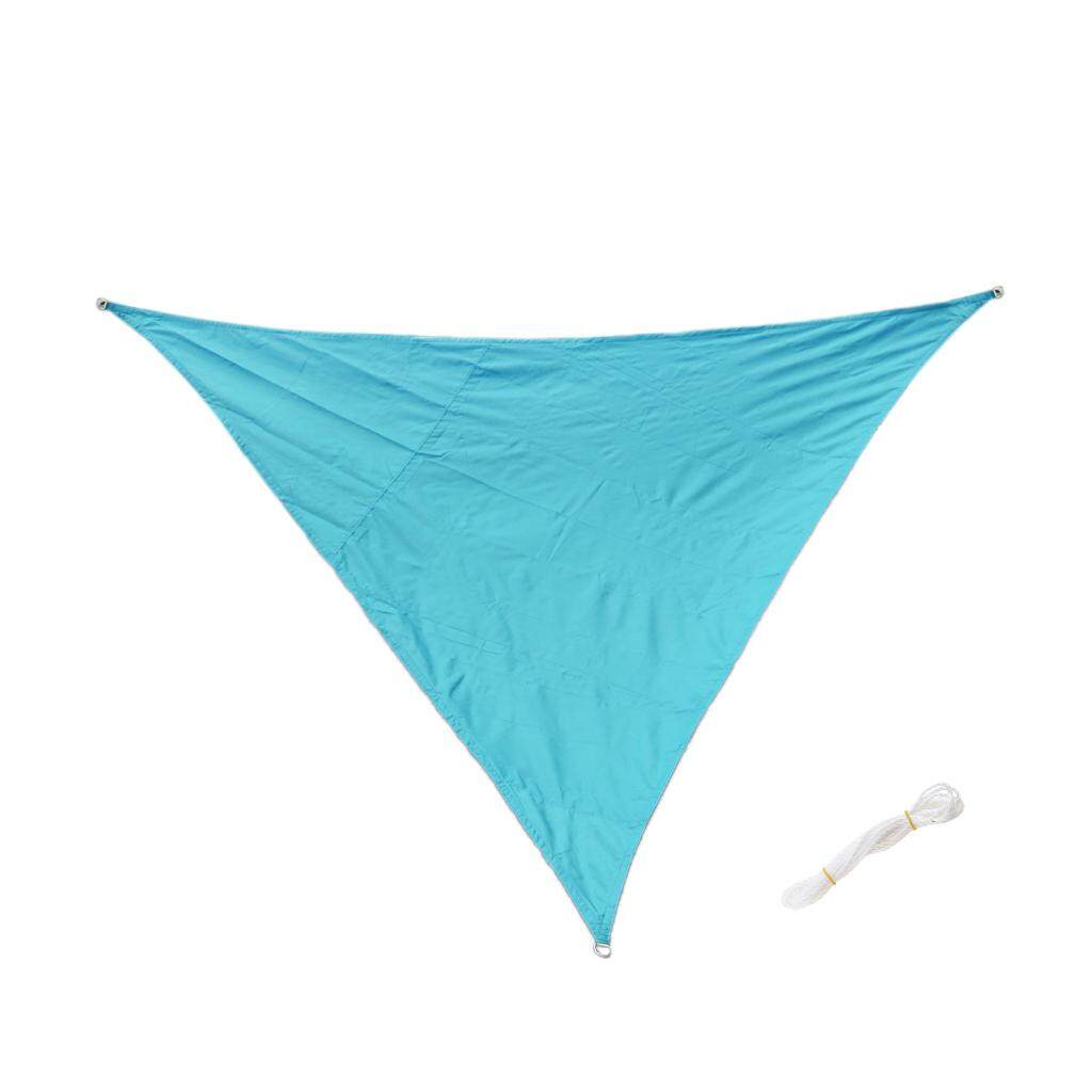 MagiDeal Triangle UV Block Sun Shade Sail Outdoor Garden Pool Deck Blue 3m