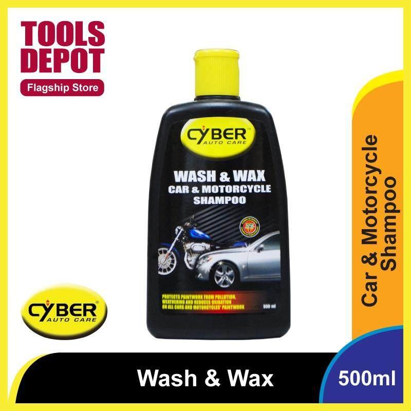 Cyber Wash & Wax Car & Motorcycle Shampoo (500ml)