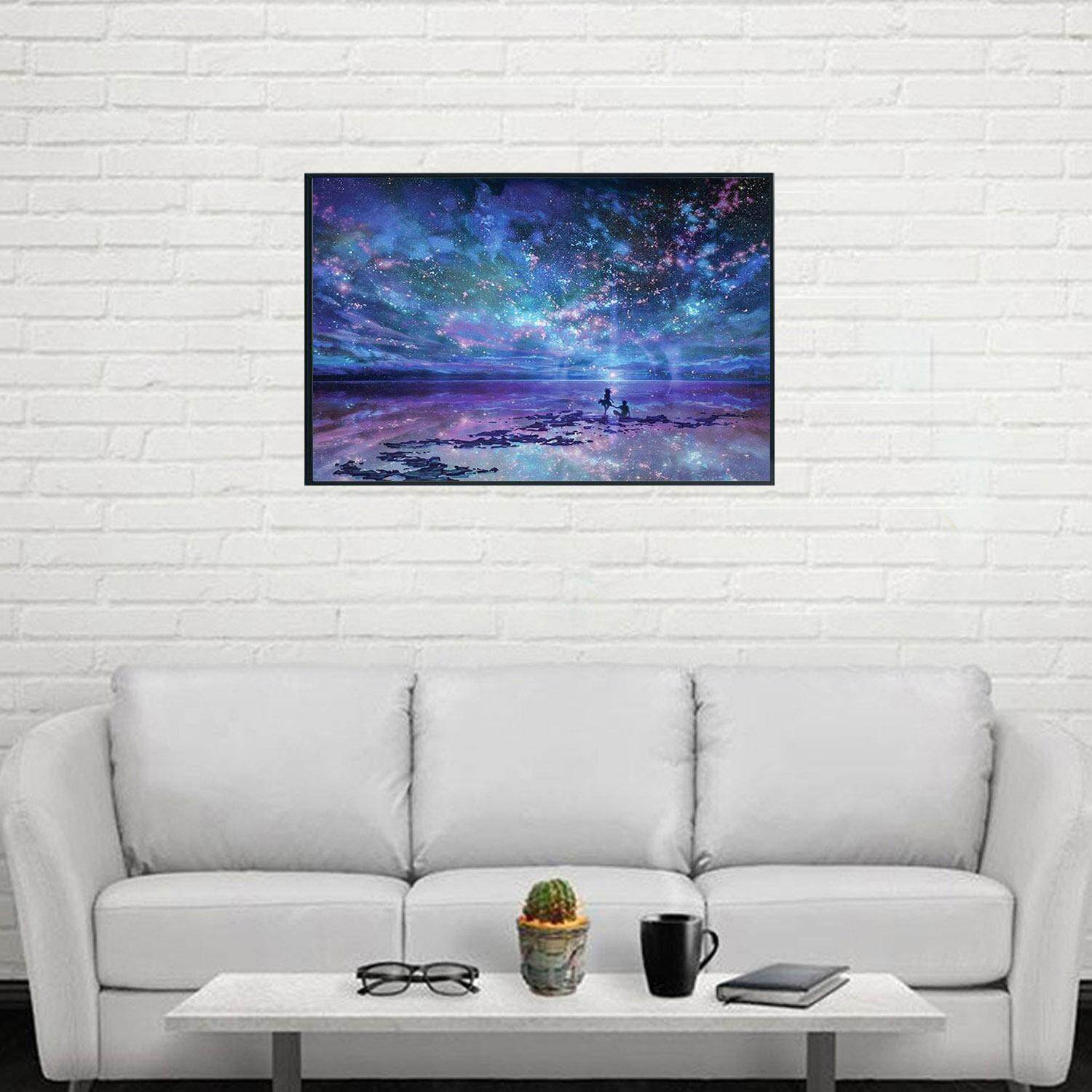 Hình ảnh 5D DIY Night Sky Pattern Diamond Rhinestone Painting Part Embroidery Cross Stitch Picture for Home Wall Decor DIY Christmas Birthday Gift - intl