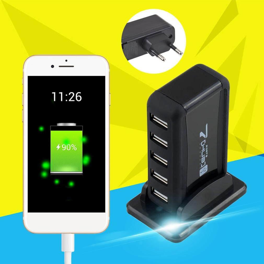 Hình ảnh Multifunctional Perfect 7 Port USB Hub AC Adapter For Computer PC(EU Plug) - intl