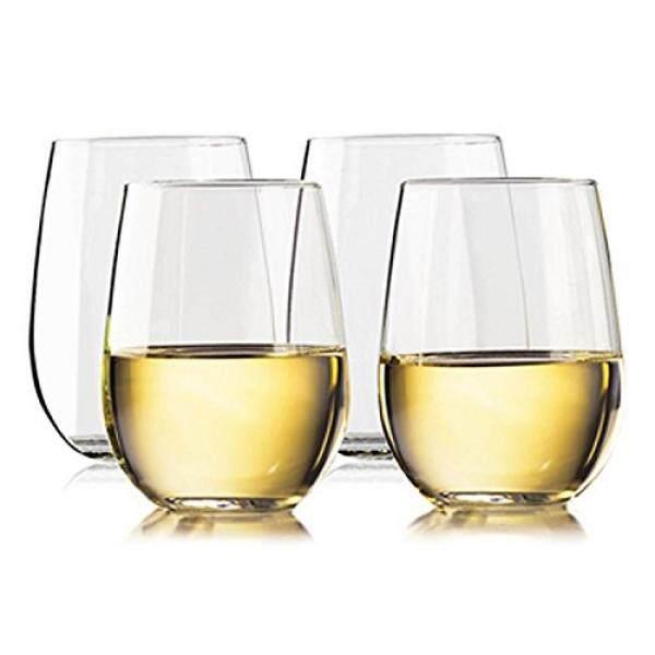 Taza Tangkai Tak Bisa Dipecahkan Gelas Anggur: elegan Pecah Plastik Tritan Outdoor Cangkir dengan Alas Berpemberat Mesin Cuci Piring Aman Halus Velg 16 Ons Set 4