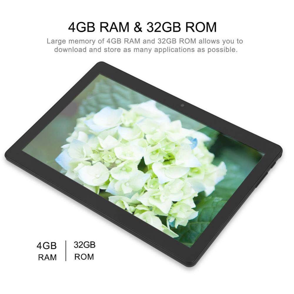 10in Dual Camera Tablet PC 4G/Bluetooth/WiFi 4GB RAM+32GB ROM WiFi Tablet for Android - US Plug