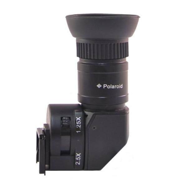 Polaroid 1X-2.5X Right Angle Viewfinder for Canon EOS, Nikon, Olympus, Panasonic, Sony, & Pentax Digital SLR Cameras