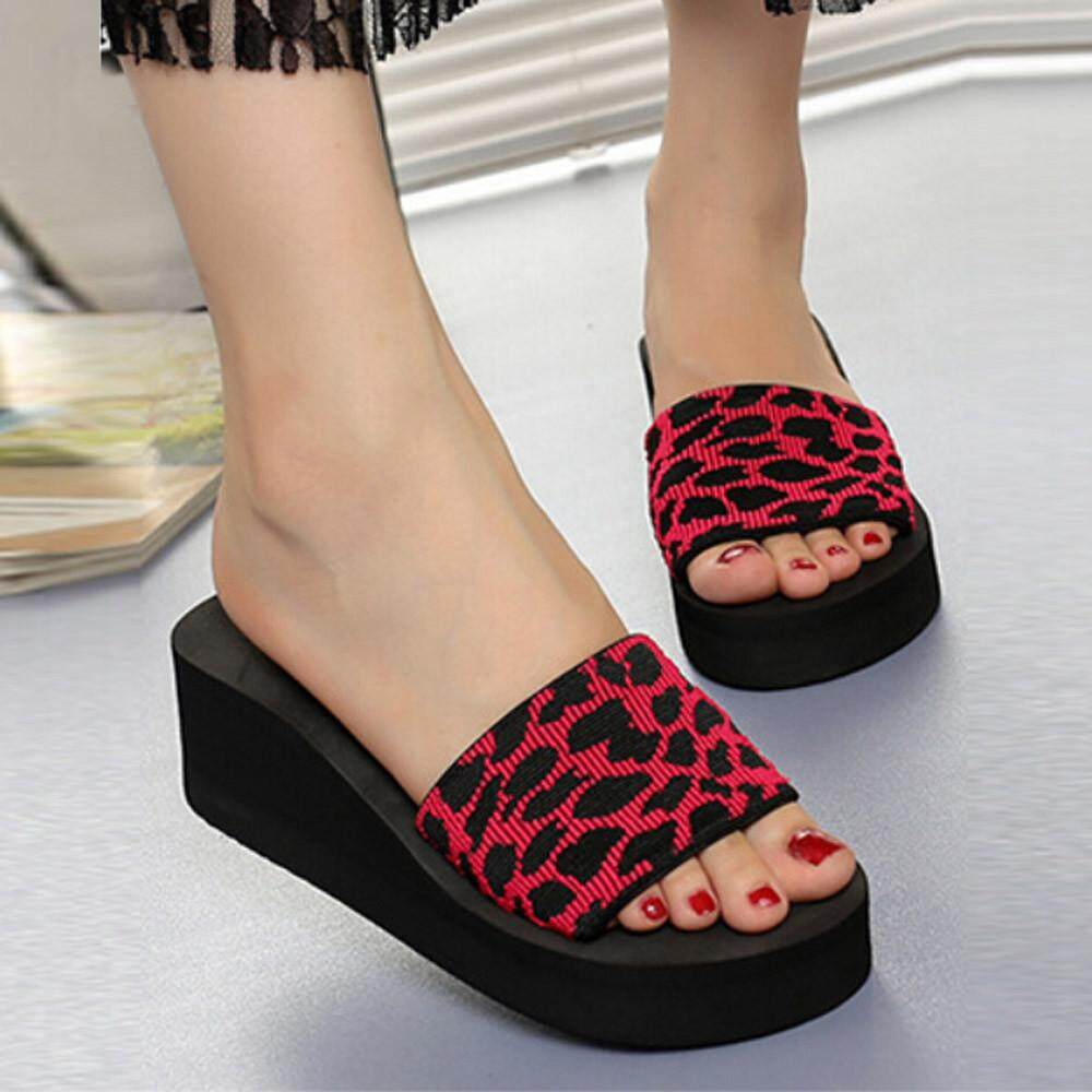 662121a3526eb Summer Women Shoes Platform Bath Slippers Wedge Beach Slope Flops Slippers  Shoes - intl