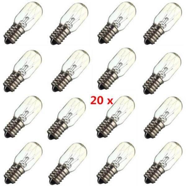 ToolStar 20PCS E14 15W Salt Lamp Globe Light Refrigerator Bulb Replacement AC220V-240V