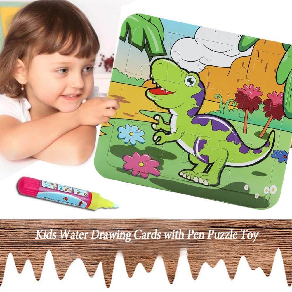 Bayi Anak-anak Es Krim Empuk Kartu dengan Pena Dapat Digunakan Kembali Belajar Teka-teki Gambar Permainan Mainan (Cp1389-5)-Intl