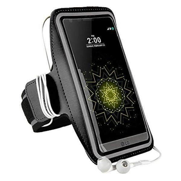 Smartphone Case S Ban Lengan Gelang Olahraga Universal Pelindung Berlari Tas Olahraga dengan Gantungan Kunci untuk Motorola E3/G4 Bermain/Oppo A37/Samsung Galaxy j2 Perdana/J5 Perdana/On5 Pro/J2/On5/J3 V/C5-Intl