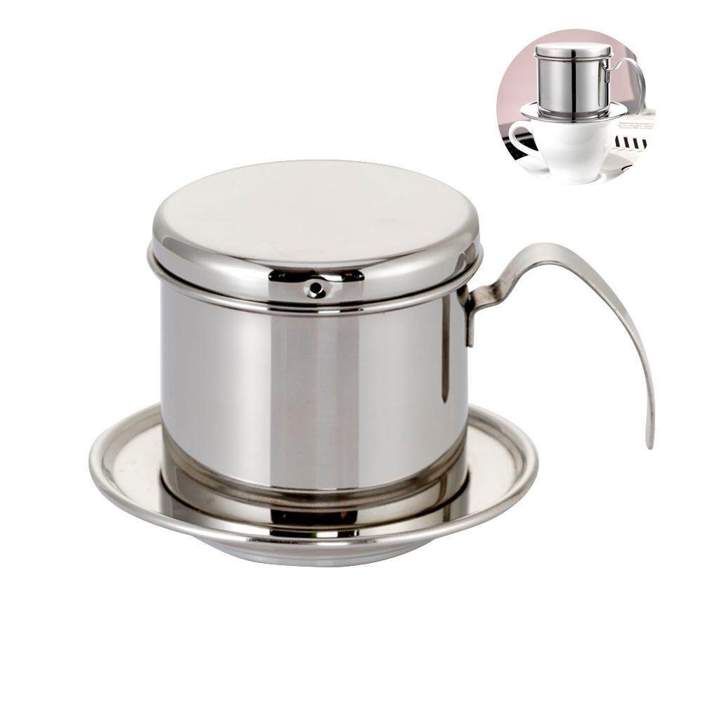 Aolvo Coffee Maker Pot, Stainless Steel Vietnamese Coffee Drip Filter Maker Vietnamese Coffee Filter Press - for Home Kitchen Office Use, Perfect Gift for Baristas and Coffee Lovers